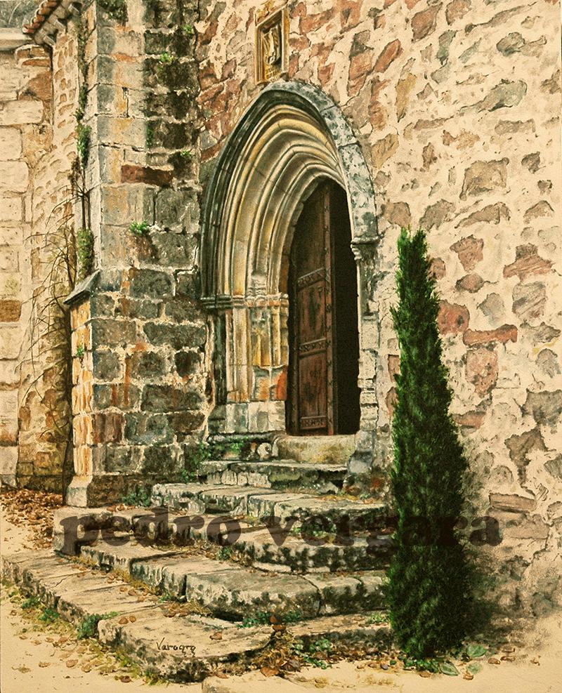 Puerta sacra. Óleo-lienzo. 41x33cm. Pedro Vergara.
